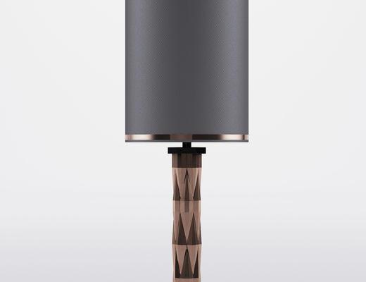 现代简约, 黑色, 床头灯, 现代台灯
