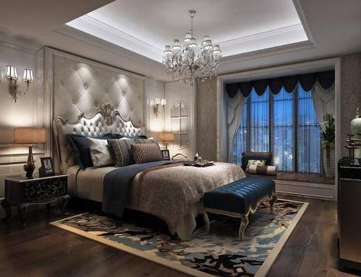 简欧卧室, 卧室, 欧式卧室
