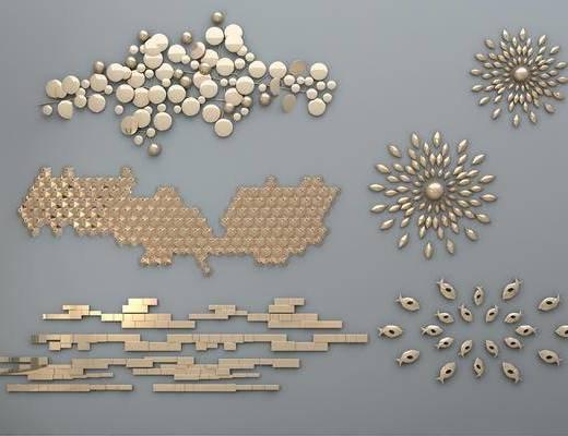 现代墙饰, 金属墙饰, 墙饰, 不规则墙饰, 创意墙饰, 挂件, 金属挂件
