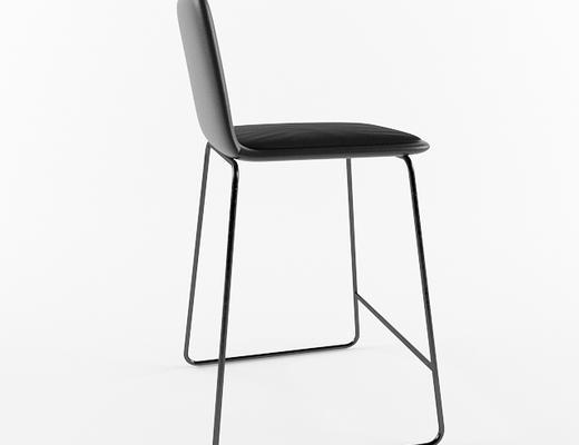 现代简约, 黑色, 椅子, 现代椅子