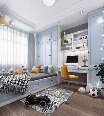 兒童房, 榻榻米, 桌椅組合, 玩具書柜, 北歐