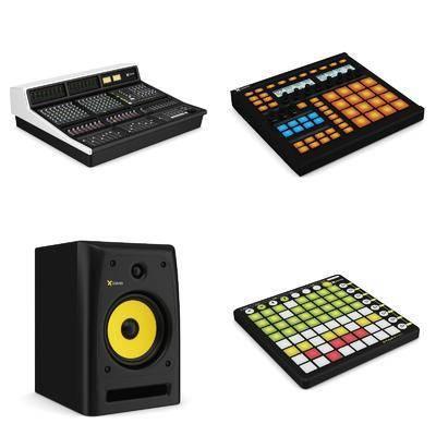 音乐设备音响打碟机组合, 打碟机, 音响, 现代