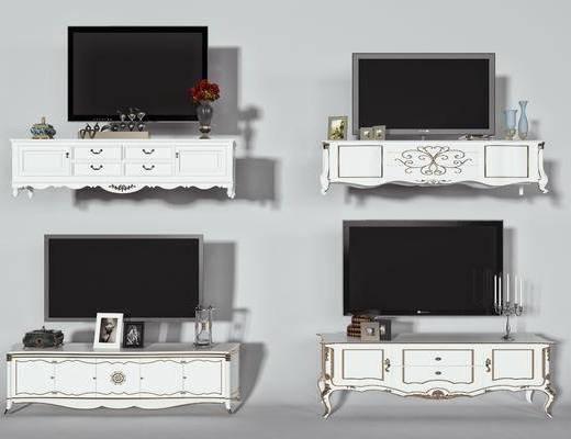 电视, 摆件, 花瓶, 装饰品