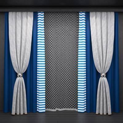 窗帘, 布艺, 现代