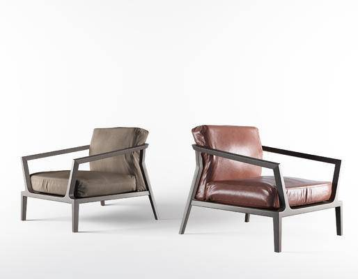 北欧, 现代, 简约, 单椅, 椅子