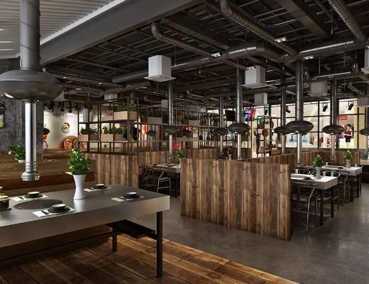 韩国烤肉店, 烧烤店, 烤肉架, 烤肉烟囱, 烤肉餐桌椅, 烤肉器具, 工业风烤肉店