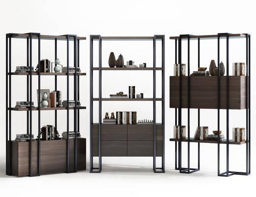 装饰柜架, 现代装饰柜架, 摆件, 装饰品, 现代
