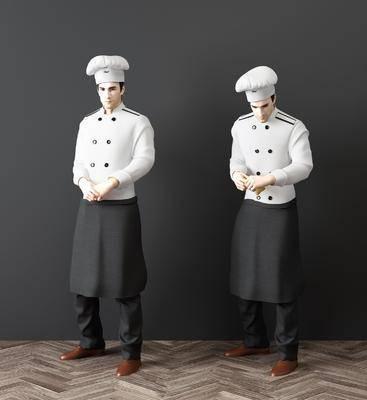 现代人物厨师, 厨师, 人物