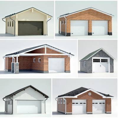 户外, 建筑, 车库, 现代