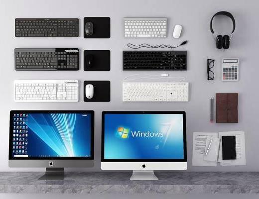 电脑, 鼠标, 电器, 计算机