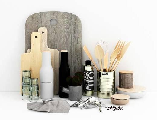 厨具, 砧板, 勺子, 杯子, 现代