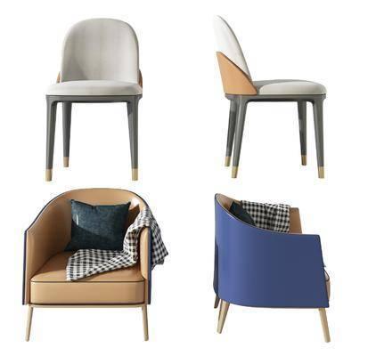 现代, 餐椅, 沙发椅