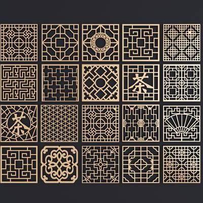 护栏, 窗户, 镂空, 金属, 新中式窗户, 新中式护栏, 新中式, 双十一