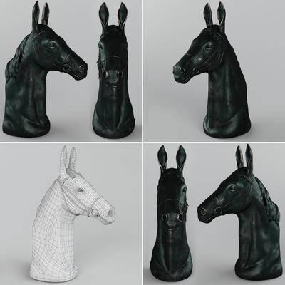 马头, 雕塑, 现代