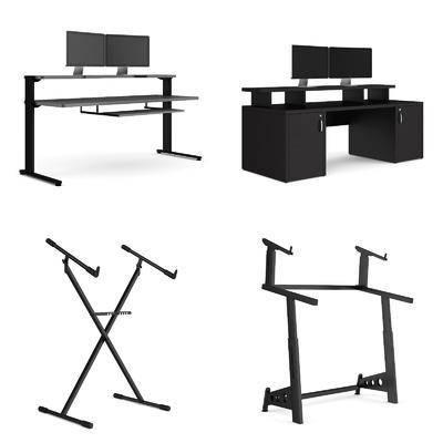 电脑桌子音乐架子组合, 支架, 电脑台, 现代