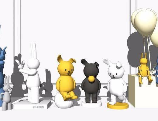 雕塑, 装饰品, 玩偶, 景观小品