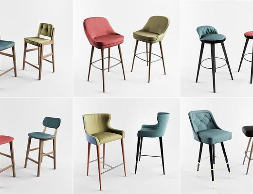 北欧简约, 吧椅组合, 椅子组合