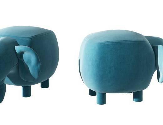 现代大象沙发凳, 动物凳子