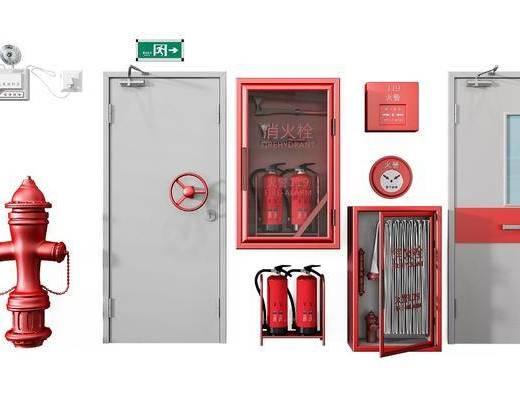 消防门, 消防工具组合, 现代