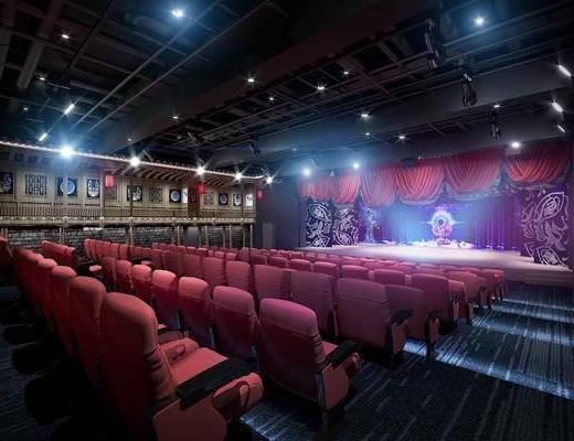 中式, 剧院, 工装