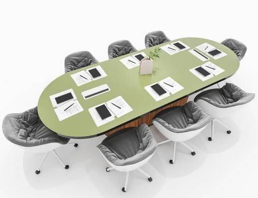 北欧简约会议桌
