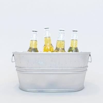 啤酒瓶子, 酒桶, 现代