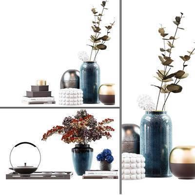 现代, 摆件, 花瓶, 陶罐