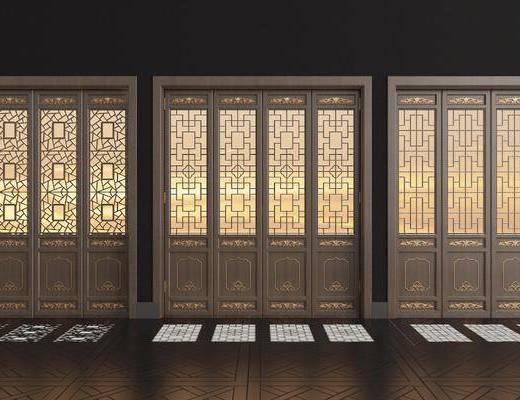 實木花格, 折疊門, 新中式, 雙十一