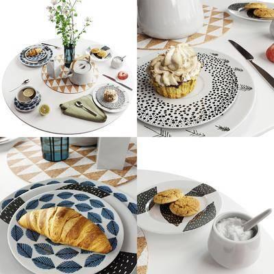 餐具, 食物, 碗碟, 面包, 蛋糕, 刀叉, 北欧