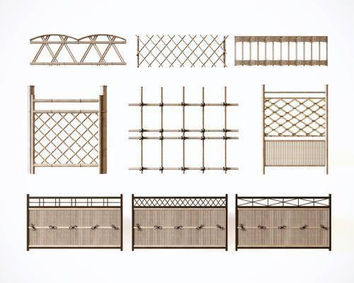 篱笆围栏, 围栏围墙, 木栅栏, 新中式
