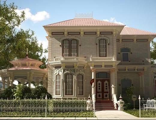 别墅, 美式别墅, 欧式别墅, 别墅外观