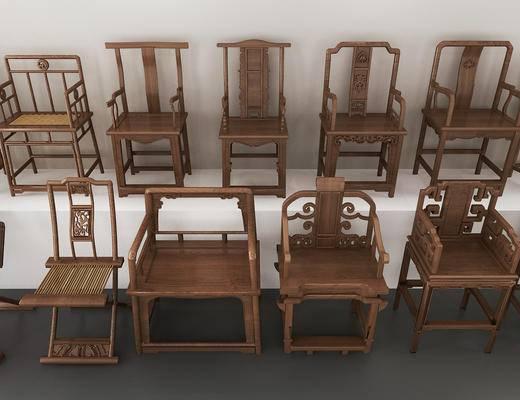中式椅子, 中式休闲椅, 单椅