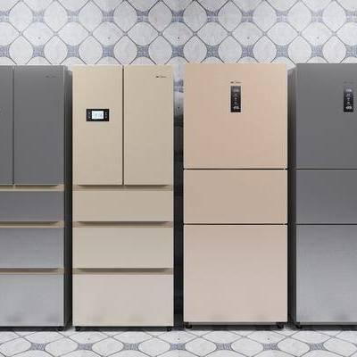 冰箱, 冰柜, 单开门冰箱, 现代, 家电