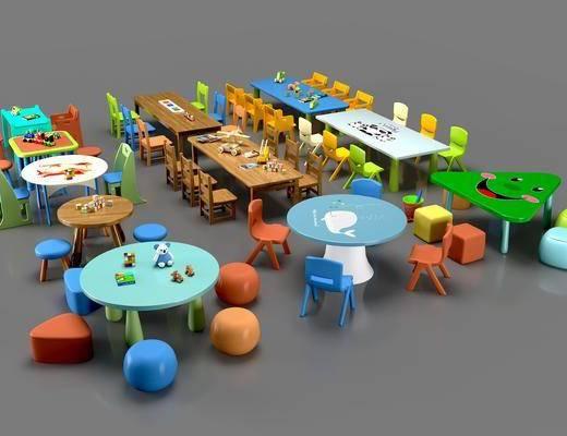 现代桌椅, 桌椅组合