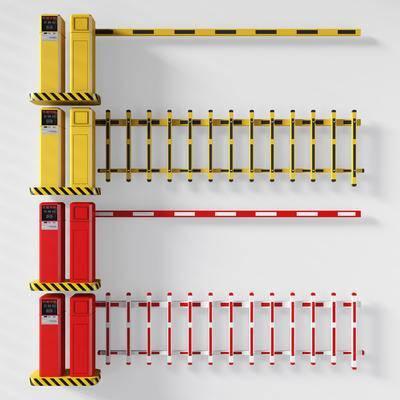 收费岗, 栏杆, 停车杆, 收费杆