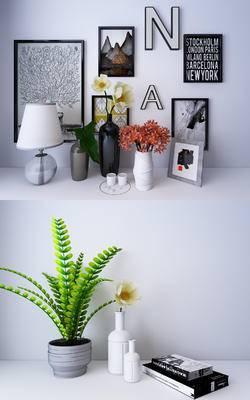 陈设品, 摆件, 花瓶, 台灯, 装饰画, 摆设