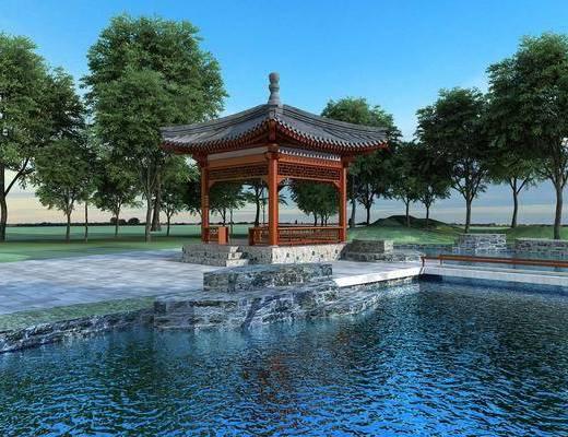 中式, 凉亭, 古建