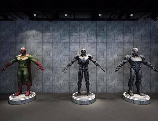 影视游戏角色, 模型, 漫威, 奥创, 现代漫威奥创幻视英雄3d模型