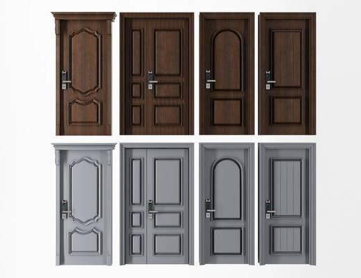 现代平开门, 平开门, 防盗门
