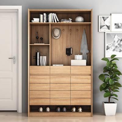 鞋柜飾品, 盆栽, 綠植植物, 裝飾畫, 掛畫, 現代