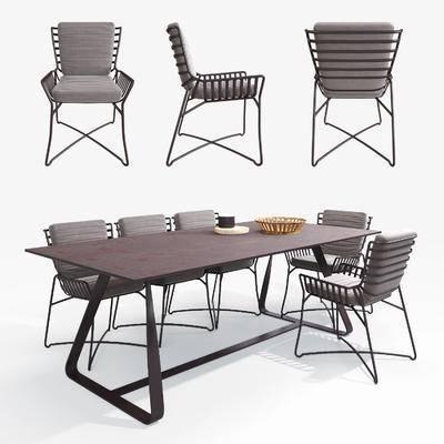 餐椅, 餐桌, 现代, 工业风, 单椅, 摆件