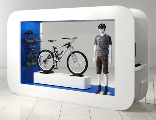 展柜, 現代展柜, 自行車, 模特, 現代