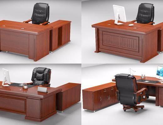 办公家具, 办公桌, 桌椅组合