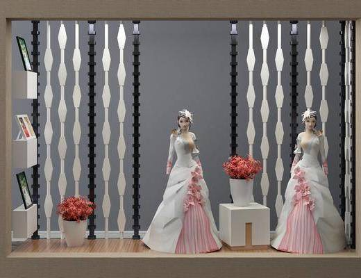 櫥窗, 模特服飾, 現代