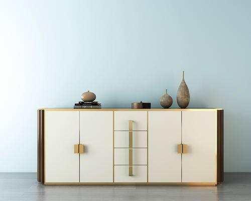 装饰柜, 玄关柜, 鞋柜, 柜子, 中式装饰柜, 摆件