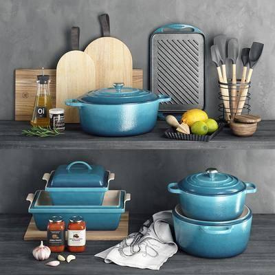 厨具, 碗碟, 摆件组合