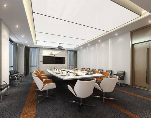 现代会议室, 企业会议室, 会议室, 政府会议室, 党建, 会议桌, 椅子