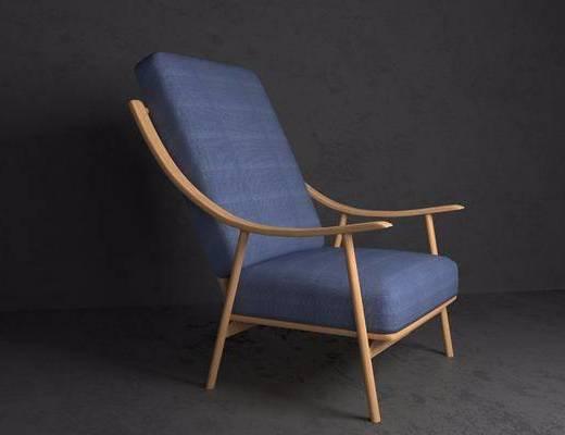 躺椅, 单人椅, 现代