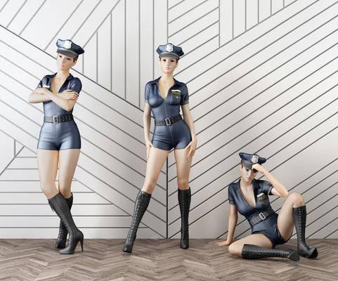 人偶, 女人, 警察, 现代