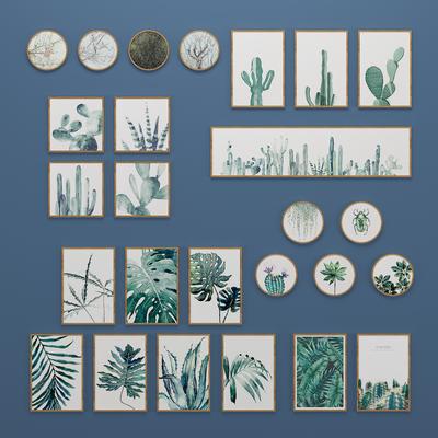 北欧植物挂画, 壁画, 装饰画